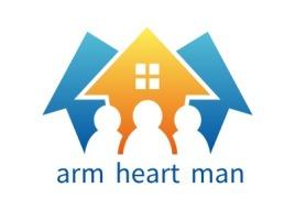 Warm heart man企业标志设计