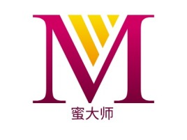 蜜大师门店logo设计