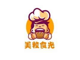 美粒食光店铺logo头像设计