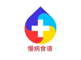 慢病食谱门店logo标志设计