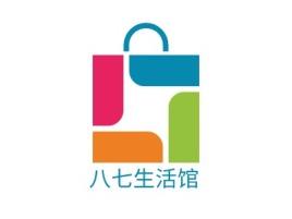 八七生活馆店铺标志设计