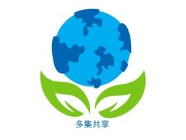 多集共享公司logo设计