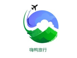 嗨鸭旅行logo标志设计