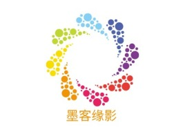 墨客缘影logo标志设计