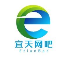 宜天网吧logo标志设计