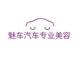 魅车汽车专业美容公司logo设计