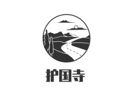 护国寺logo标志设计
