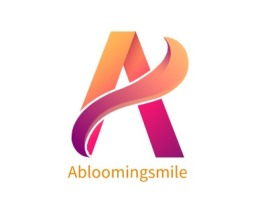 Abloomingsmile品牌logo设计
