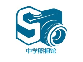 中学照相馆logo标志设计