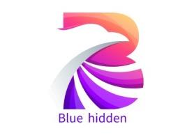 Blue hidden店铺标志设计