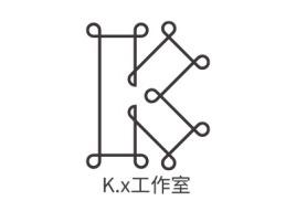 K.x工作室店铺标志设计