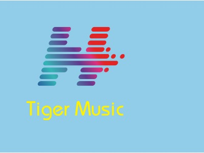 Tiger Music logo标志设计