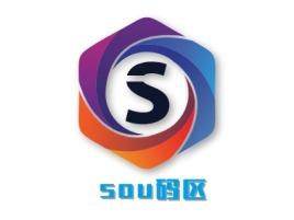 sou码区公司logo设计