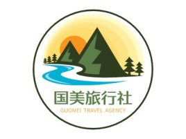 国美旅行社logo标志设计