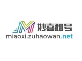 妙喜租号logo标志设计