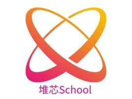 堆芯School企业标志设计