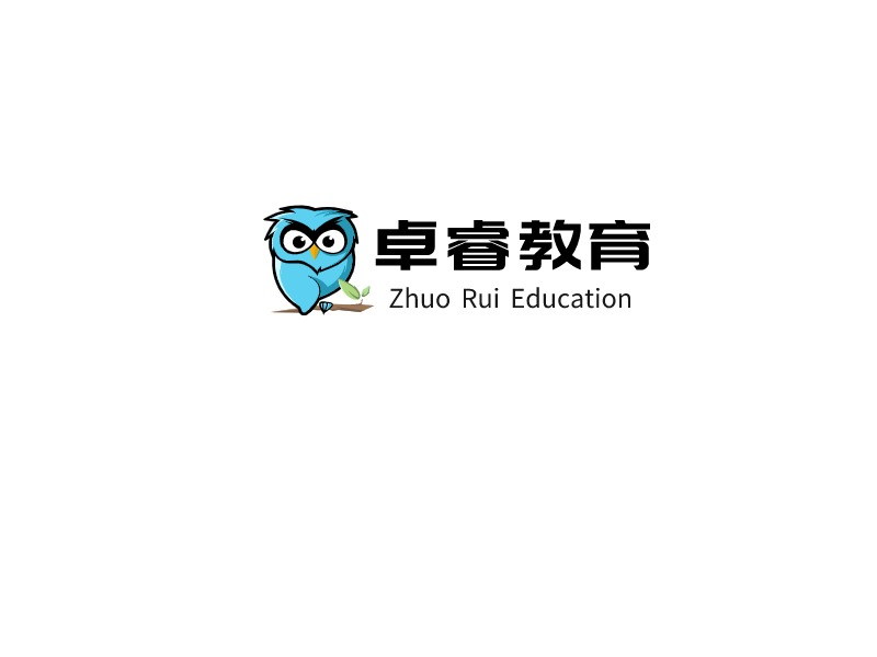 Zhuo Rui Education  logo标志设计