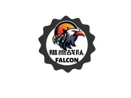 猎鹰战队logo标志设计
