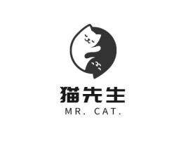 猫先生logo标志设计