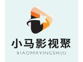 小马影视聚logo标志设计