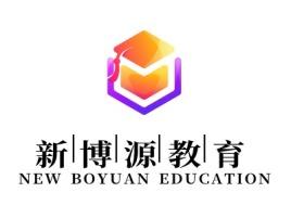 新博源教育logo标志设计