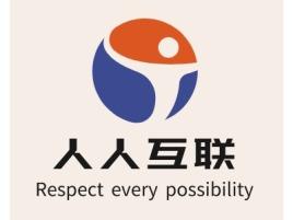 人人互联logo徽章设计