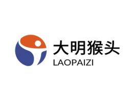 大明猴头logo标志设计