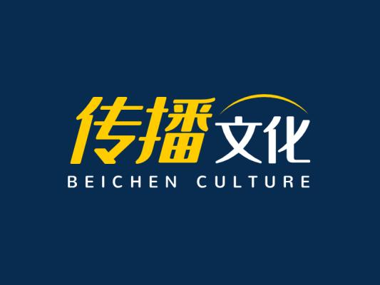 简约线条创意文化传媒公司logo设计