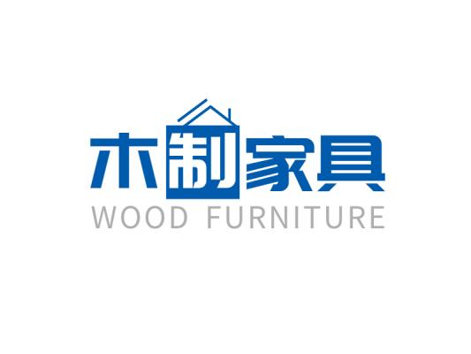 简约创意蓝色房屋建筑家居家居装饰文字图标标志logo设计
