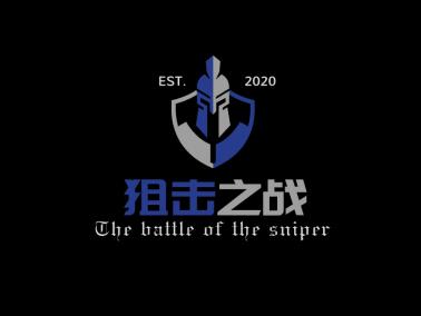深色酷炫人物图文结合创意游戏图标标志logo设计