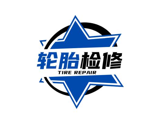 星星炫酷工业风图标标志logo设计