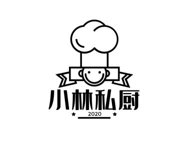 创意简约卡通厨师图标标志logo设计
