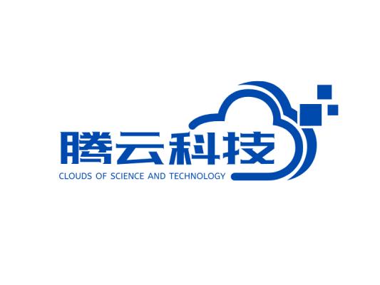 蓝色商务科技公司图标标志logo设计