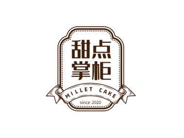 創意徽章甜品條幅圖標標志logo設計