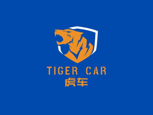 冲击炫酷公众号虎头图标标志logo设计