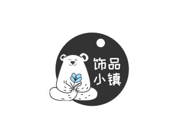 可爱小熊饰品类微信公众号图标标志logo设计