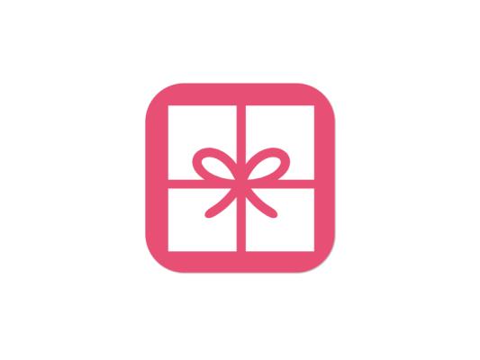创意科技app礼物礼盒蝴蝶结图标标志logo设计