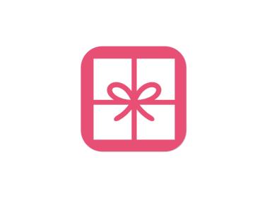 創意科技app禮物禮盒蝴蝶結圖標標志logo設計