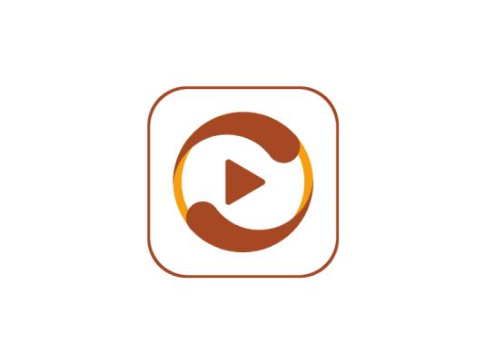 传统简约影视app图标标志logo设计