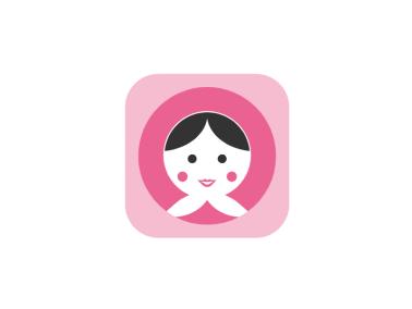 可愛卡通人物母嬰app圖標標志LOGO設計