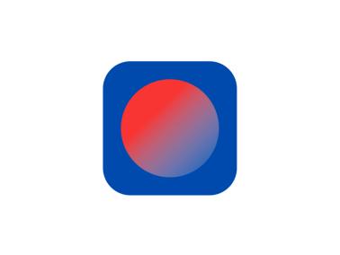 藍色個性簡約app圖標標志logo設計