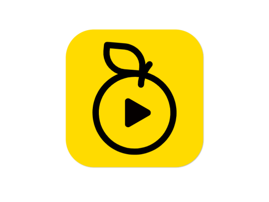 视频播放器APP橘子橙子图标标志logo设计