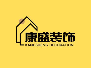 简约创意家居装饰公司店铺门头图标标志LOGO设计