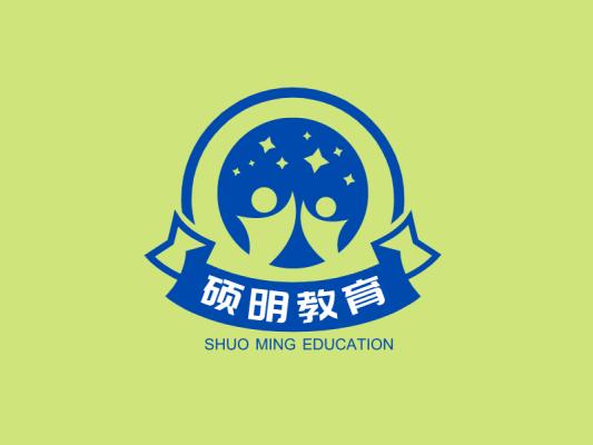 教育人物学生条幅门头徽章图标标志LOGO设计
