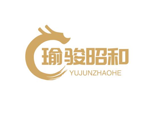 金色酷炫龙公司店铺门头图标标志logo设计