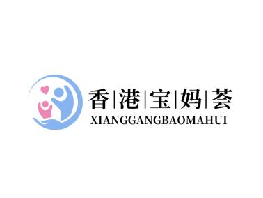 母婴人物图标标志logo设计