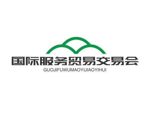 创意科技贸易交易会议会标山自然徽章图标标志logo设计