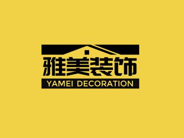深色鏤空房屋門頭店鋪圖標標志logo設計