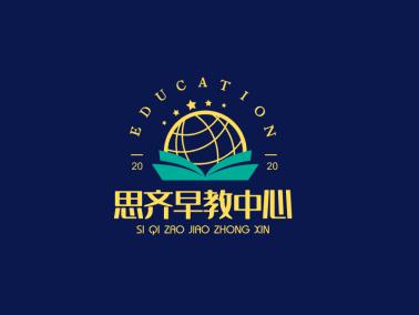 黄色活泼教育育儿母婴早教中心图标标志logo设计