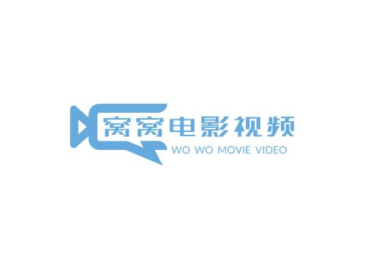 蓝色摄影电影视频影视app图标标志logo设计